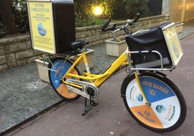 Publicité à vélo